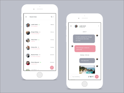 Daily UI :: 013 - Direct Messaging daily ui challenge chat direct messaging app design ui design ui
