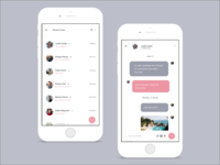 Daily UI :: 013 - Direct Messaging