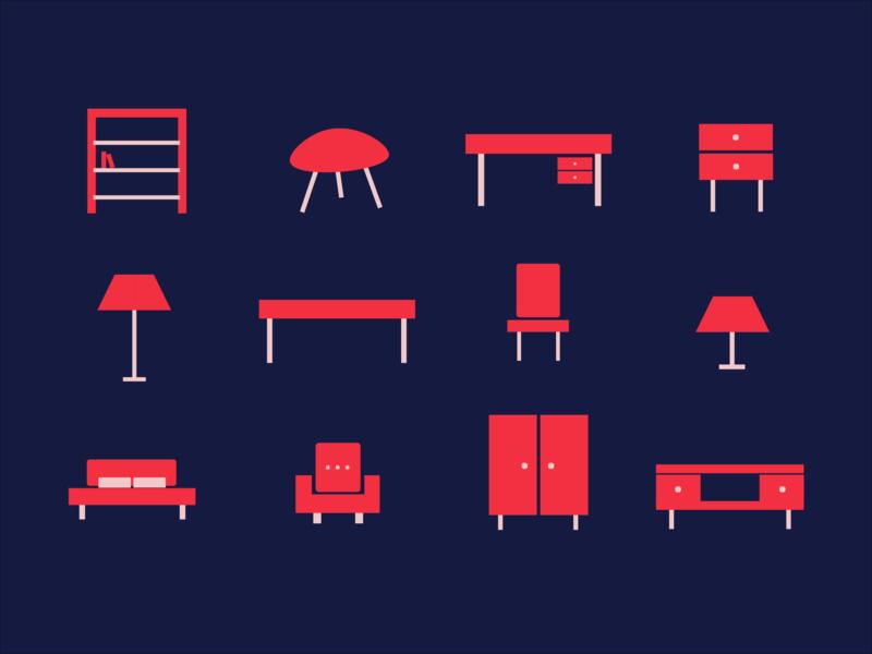 Furniture Icon Set interior furniture icons design icon set icon