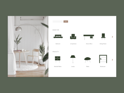 Interior Design Product Search web design iconography icons product category interior design ui design ui