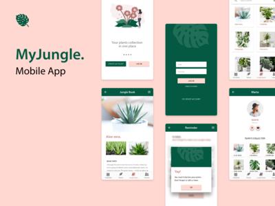MyJungle mobile app concept ux design mobile app design ui design