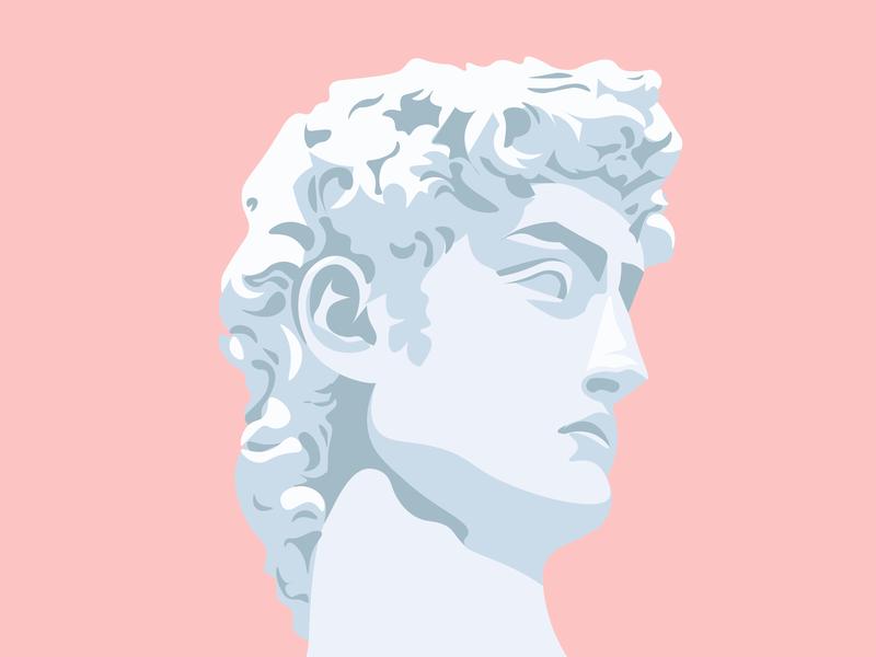 The David graphic sculpture david florence