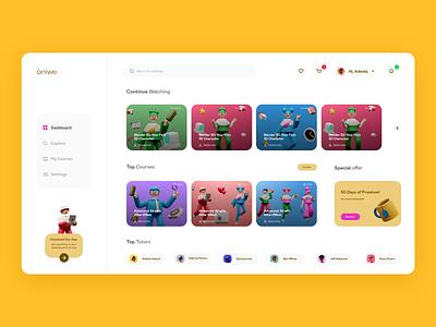 Oniwe - Online Course Web App course learning education shot ux design exploration