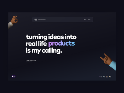 Adeola Adeoti - Personal Website landing page ui shot ux design website personal portfolio
