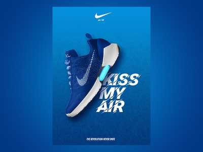 Nike Ad design blue max air flyer ad poster nike