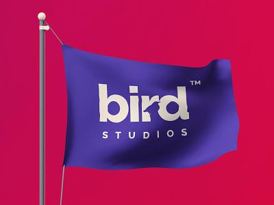 bird studio logo flag studio bird logo