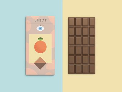 Orange Chocolate lindt orange chocolate wrapper design illustration
