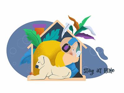Stay At Home gabbytoon artgabriella vector