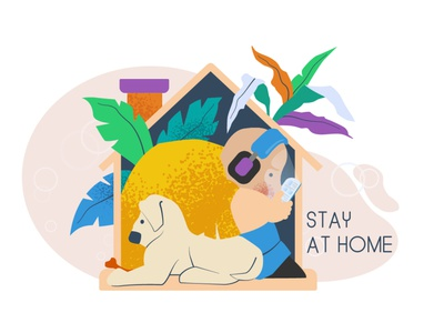 Stay At Home graphics concepts graphic design design illustration