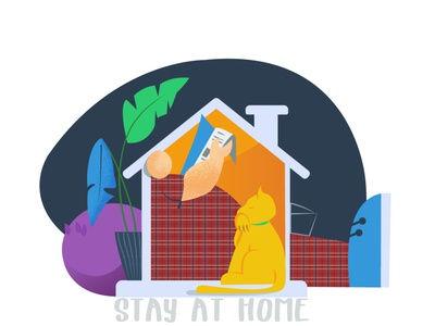 Stay At Home stay home stay safe stayhome sweet home virus quarantine pandemic home branding design illustration