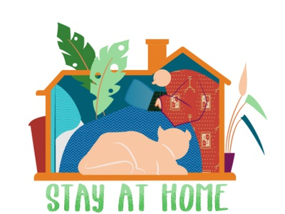 Stay At Home - 3 sweethome sweet home virus pandemic corona virus coronavirus corona stay safe stay home stayhome illustrator adobe design illustration