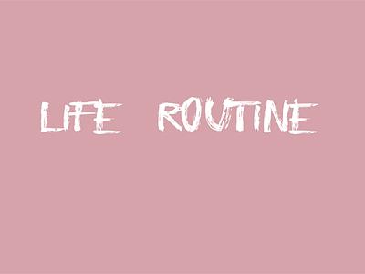 Life Routine animation motion animation flat line illustration vector motion graphic design motion graphics motion graphic 2d animation motion design