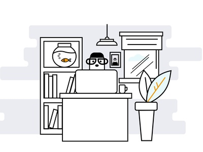 Office line art lineart line design ui vector illustration