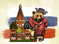 This is how some ppl think Russia looks like 😂🇷🇺🐻