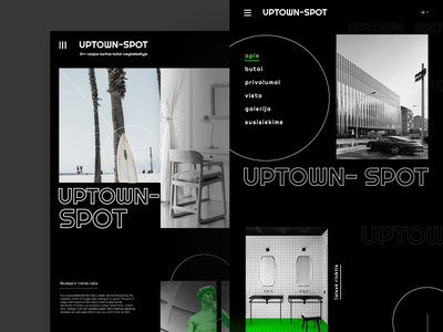 Uptown spot- Design summer camp project flat design flatstudio michelangelo holiday house ux website design webdesign website uidesign hipster menu bar urban art urban design urban blackandwhite flats real estate ui design