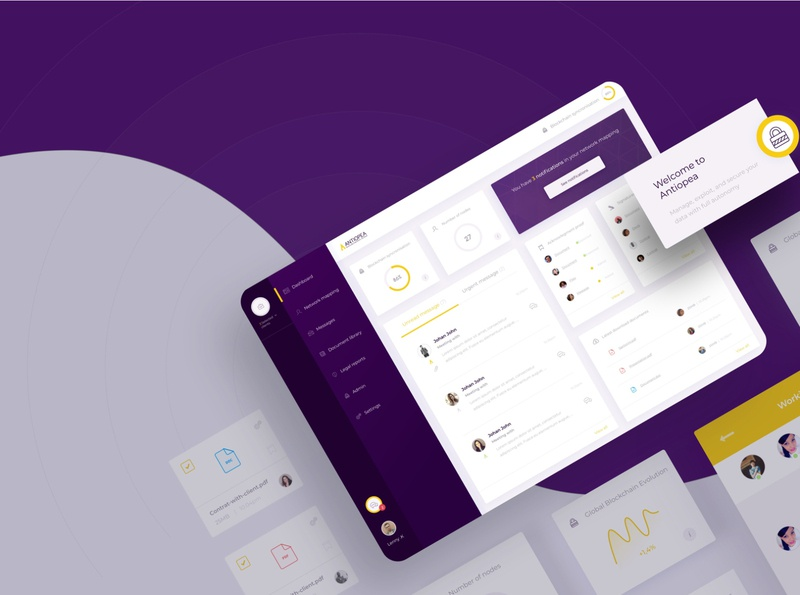 Antiopea App logo art director ui design app