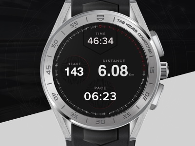 Tag Heuer watch design ui watch design app