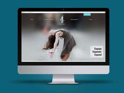 Dance and Music Academy Website website web desktop web design