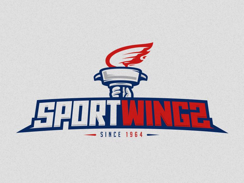 Sporwings sport wings restaurant logotype logo