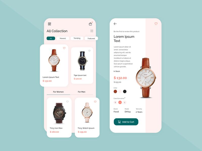 Online Watch Store Application Design application ui application design watches app app designers photoshop app designer ux app concept app development app design design ui