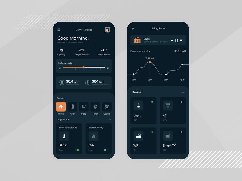 Smart Home App Design ui designer ux app designers dribbble app designer app concept app development app design design ui
