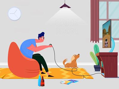 Gaming Illustrator game art gamers gamerguy illustration art illustraion gamer gaming illustration