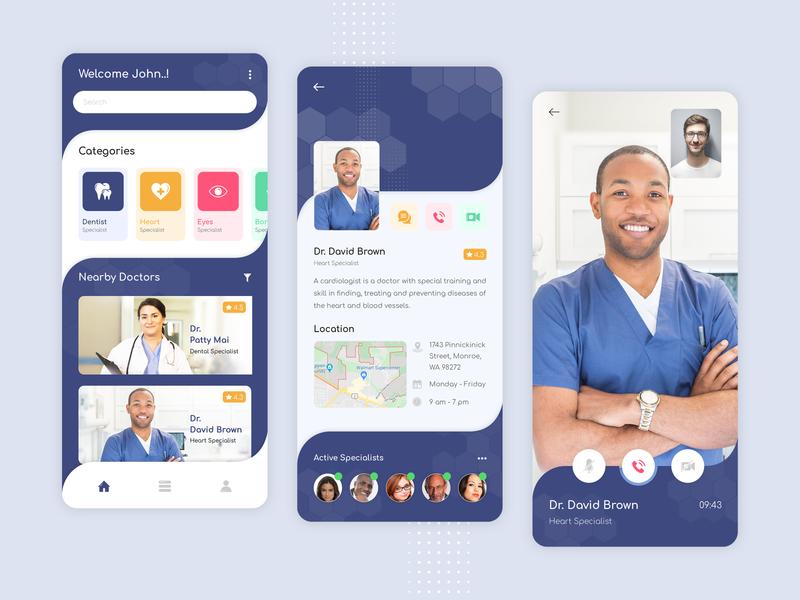 Doctor Consultation Application mobile app medical app doctor app ui doctor appointment doctor app app designers creation app designer app concept app development app design design ux ui