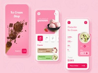 Ice Cream App Design user experience user interface ice cream shop ice cream online food app designers photoshop app designer app concept app development app design design ui