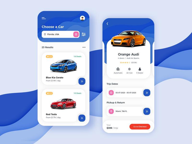 Car Rental App Design uidesign uiux mobile app car rental app car rental creation dribbble design app app concept app development app design app designer ux ui