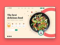 Food Ordering Website creation dribbble web ui food illustration icons colorful web ui ux food order food ordering website ui website concept website design website design ux ui