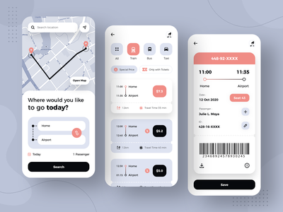 Public Transport App Design photoshop ticket booking bus booking train booking taxi dribbble app designer app concept app development app design transportation design transportation public transit public transportation public transport