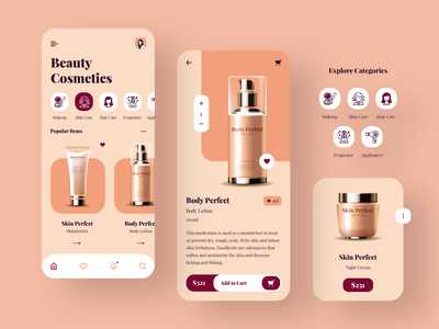 Beauty Cosmetics App Design app designers app concept ux app development design app app designer app design mobile app brand beauty app cosmetics beauty product