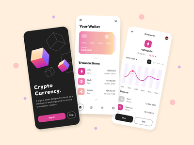 Cryptocurrency App Design ux ui app development dribbble design user experience design app ui mobile app app design crypto app crypto currencies crypto exchange crypto wallet cryptocurrency