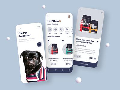 Pet Care Store App Design app designer dribbble app concept app design app development design ui petstore pets petshop petcareappdesign petcareapp petcare