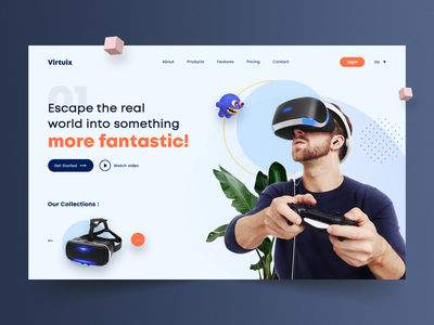 Ecommerce Landing Page Design web design company web designer dribbble design online shop online store website design web page design web page user interface ui user experience landing page design landing page ecommerce design ecommerce shop
