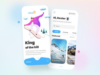 Adventure App Design app development ux dribbble design app concept ui ux ui ux design travel app app ui app app designer appdeveloper app designers app design adventure app adventures