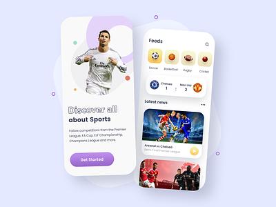 Sports News App sketch news dribbble ux ui app designer design app concept app development app design sports sport app design sport app sports design sport news