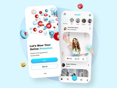 Social Media App Design app development dribbble app concept app ux app designs ui ux design uiux ui app designers app design social media app social media design social networking social networks social media