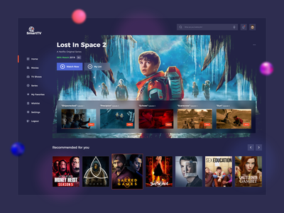 OTT Platform UI Design ott platform online movie streaming app movie app illustration web web design webdesign design app concept app development app design