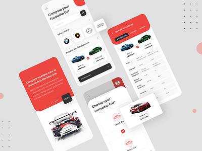 Car Comparison App Design design app dribbble app designer app concept app development ui ux designer ui ux design uiux car comparison app app designers app design car app design car comparison car app car