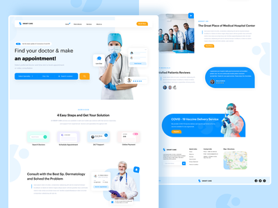 Doctor Appointment Landing Page landing page concept web web ui dribbble website design website concept websitedesigner landing page ui user experience landing page design landingpage website web design webdesign doctor consultation doctor appointment doctors