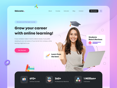 Online eLearning Web App Design design dribbble webdesigner website ui user interface websitedesign landingpagedesign landingpage userexperience webapp webappdevelopment elearning development elearning courses webappdesign elearningwebapp elearning