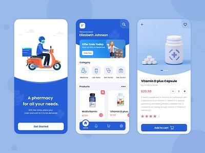 Pharmacy App Design app ui user interface application ui design ui ux design ui design branding graphic design app development app design ui pharmacy app design