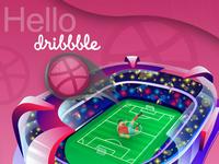 Hello Dribbble..!