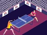 Table Tennis Illustration