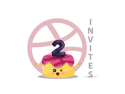 2 Dribbble Invites pudding dribbble ball dribbble invites