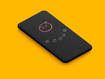 Rating App UI mood ux designer ux-design ui design android app design app development app designers iphone smiley ios android app designer app design app animation app branding app rated rate rate us