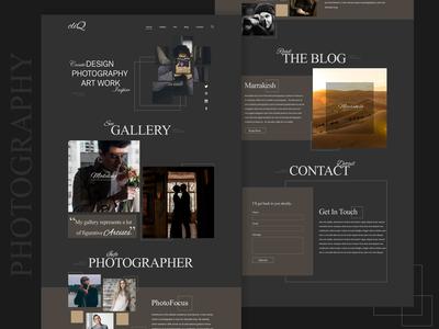 Single Page Photographer Website