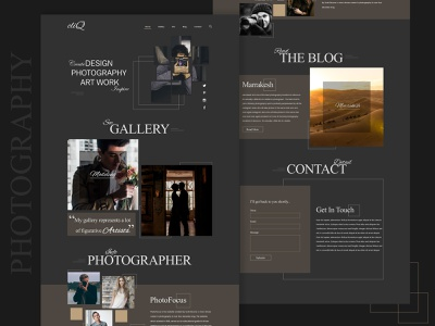 Single Page Photographer Website gallery show gallery art portafolio photo art website concept web designers home page design web design photography website art photographer single page website