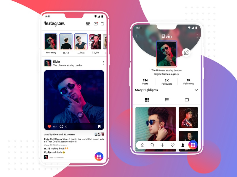 Instagram Redesign photo app bottom menu menu bar instagram challenge re-brand branding designer ui desgin ui  ux design redesign-tuesday redesign concept mobile app design designs dailyui app ui design app ui app redesign app igtv instagram